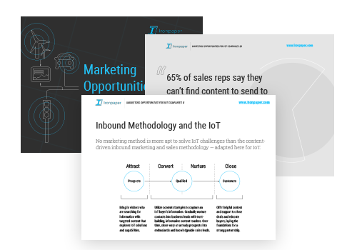 eBook by Ironpaper: Marketing Opportunities for B2B IoT Companies.