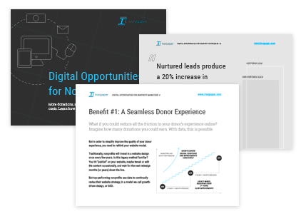 eBook by Ironpaper: Digital Opportunities for Nonprofit Marketers.