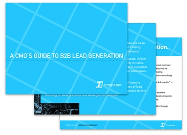 eBook by Ironpaper: A CMO's Guide To B2B Lead Generation