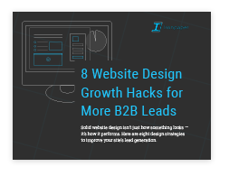 eBook by Ironpaper: 8 Website Design Strategies to Improve Lead Generation.